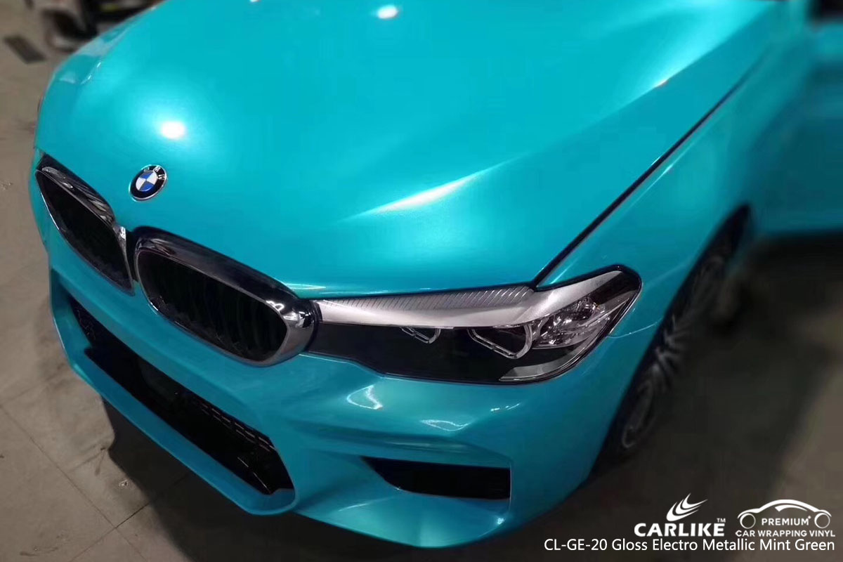 CARLIKE CL-GE-20 gloss electro metallic mint green vinyl for BMW