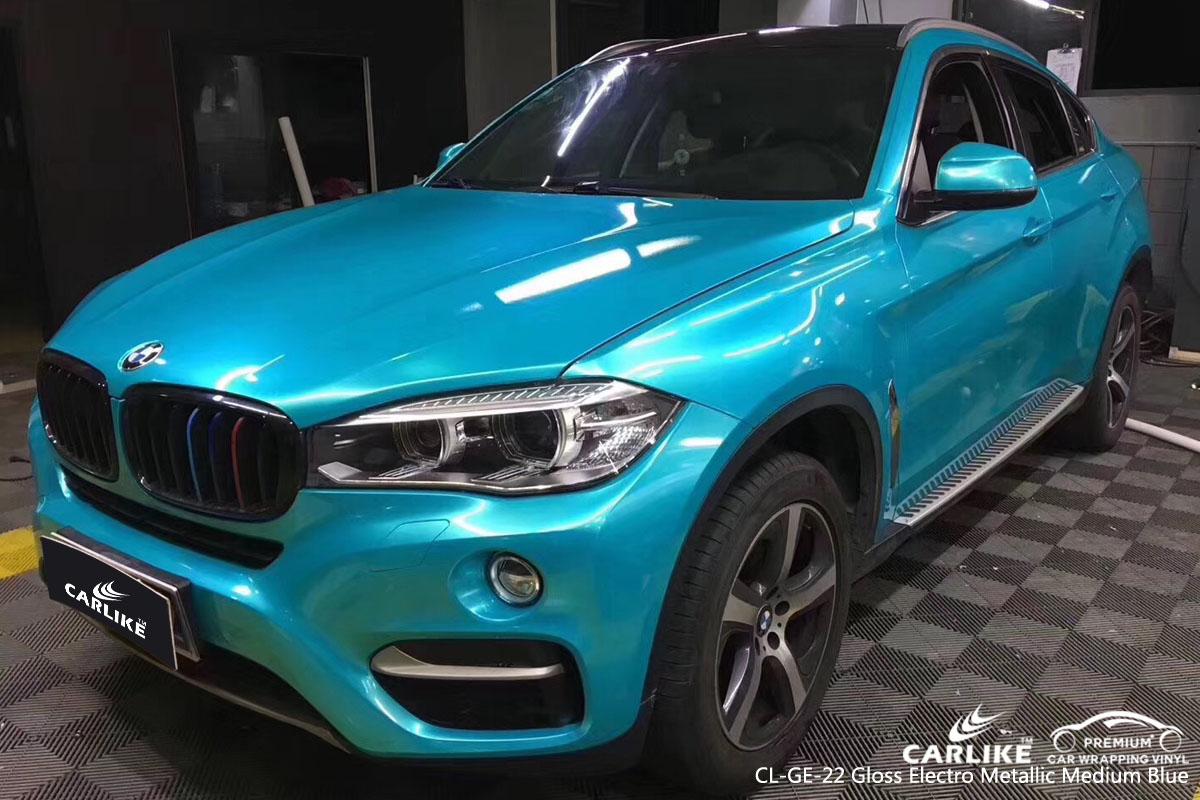 CARLIKE CL-GE-22 gloss electro metallic medium blue vinyl for BMW
