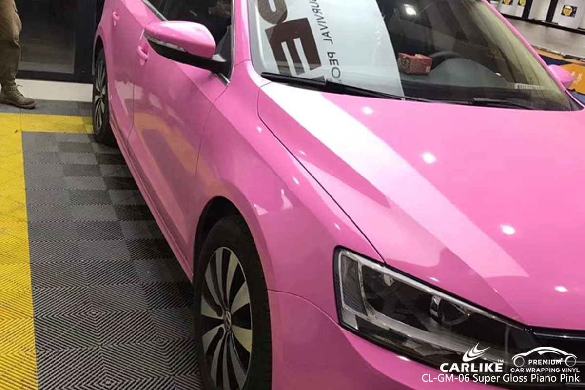 CARLIKE CL-GM-06 super gloss piano pink vinyl for VOLKSWAGEN