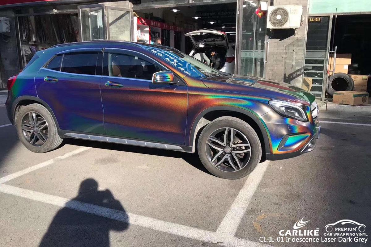 CARLIKE CL-IL-01 iridescence laser dark grey vinyl for MERCEDES-BENZ