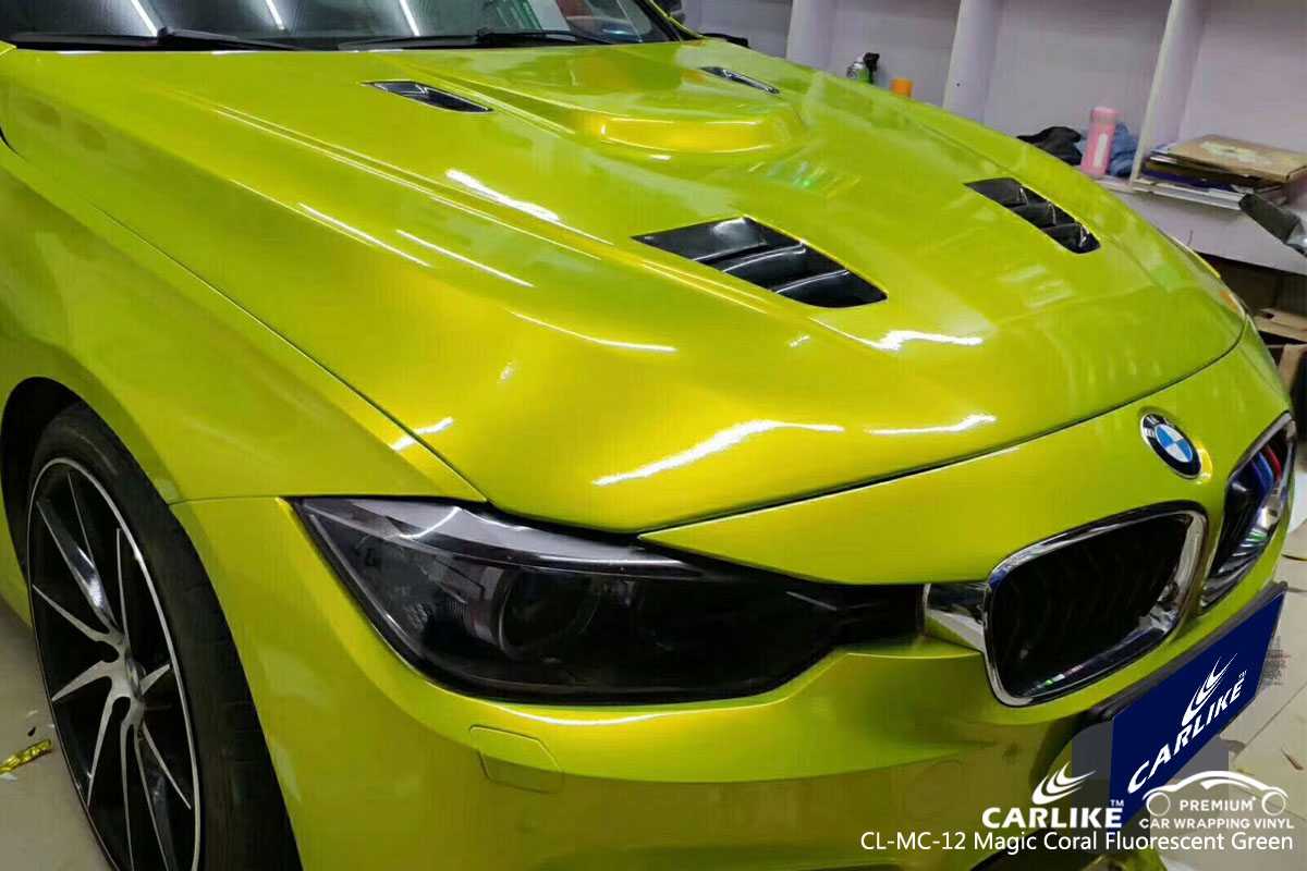 CARLIKE CL-MC-12 magic coral fluorescent green vinyl for BMW