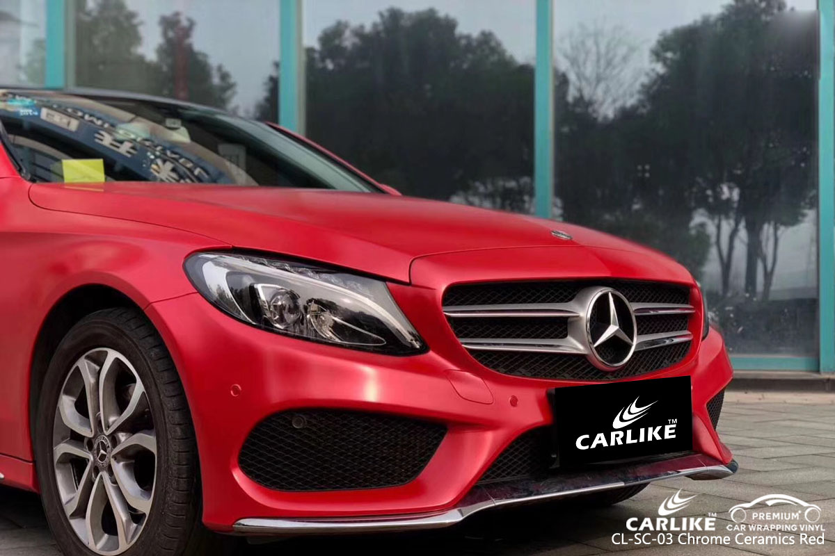 CARLIKE CL-SC-03 chrome ceramics red vinyl for MERCEDES-BENZ