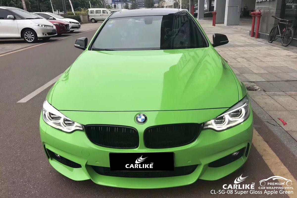 CARLIKE CL-SG-08 super gloss apple green vinyl for BMW