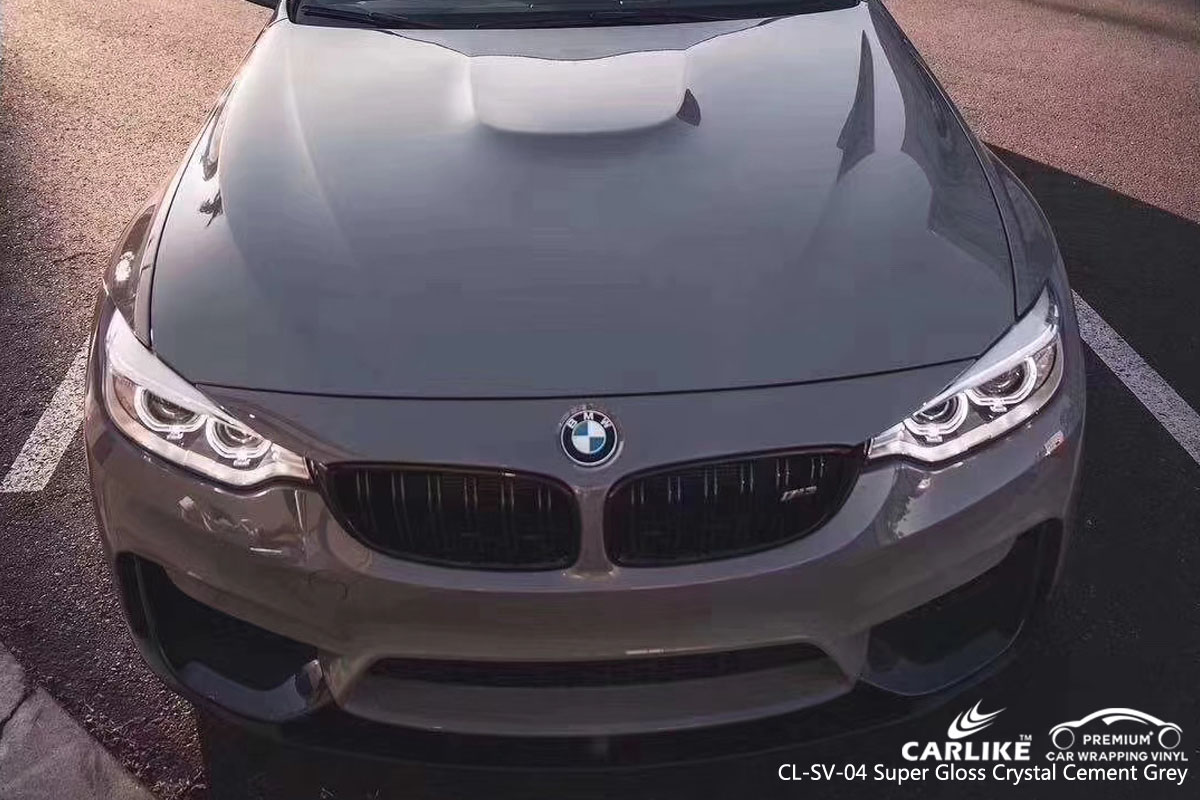 CARLIKE CL-SV-04 super gloss crystal cement grey vinyl for BMW