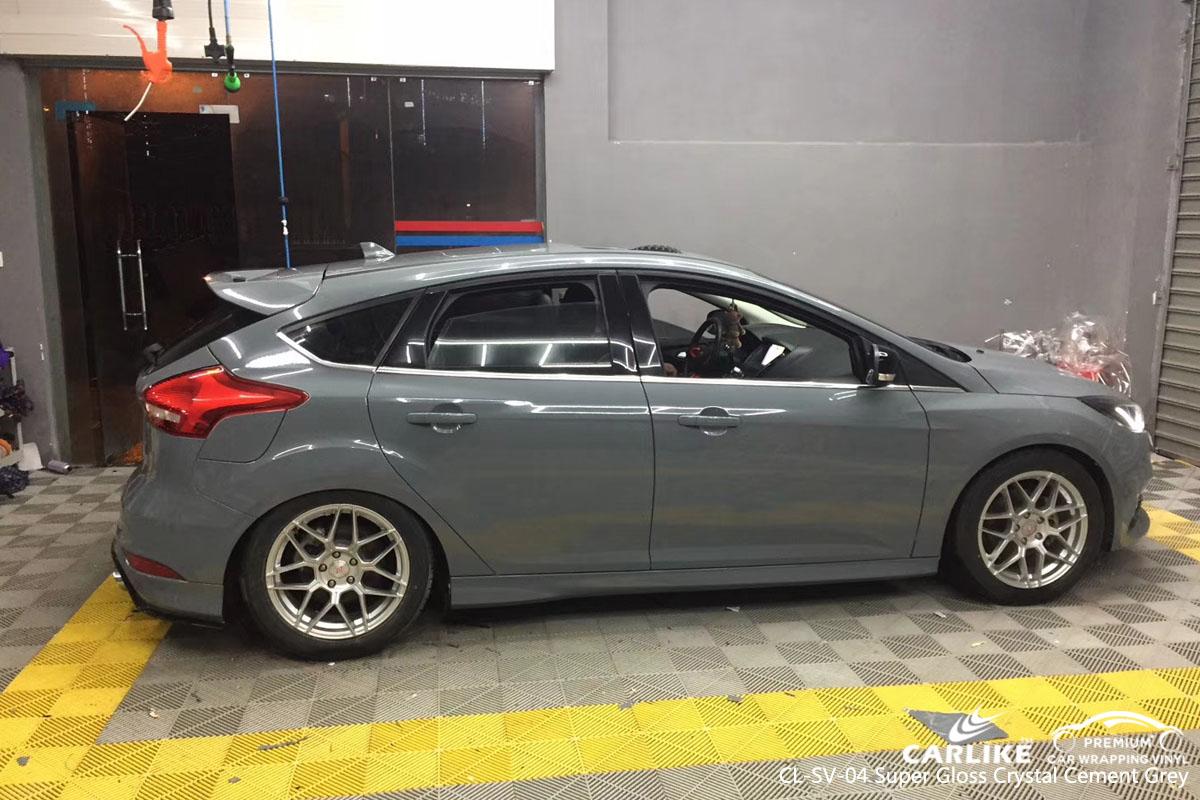 Carlike Cl Sv 04 Super Gloss Crystal Cement Grey Car Wrap