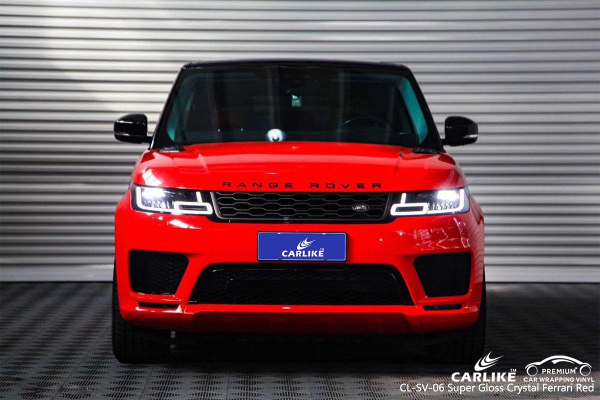 CARLIKE CL-SV-06 super gloss crystal ferrari red vinyl for Land Rover