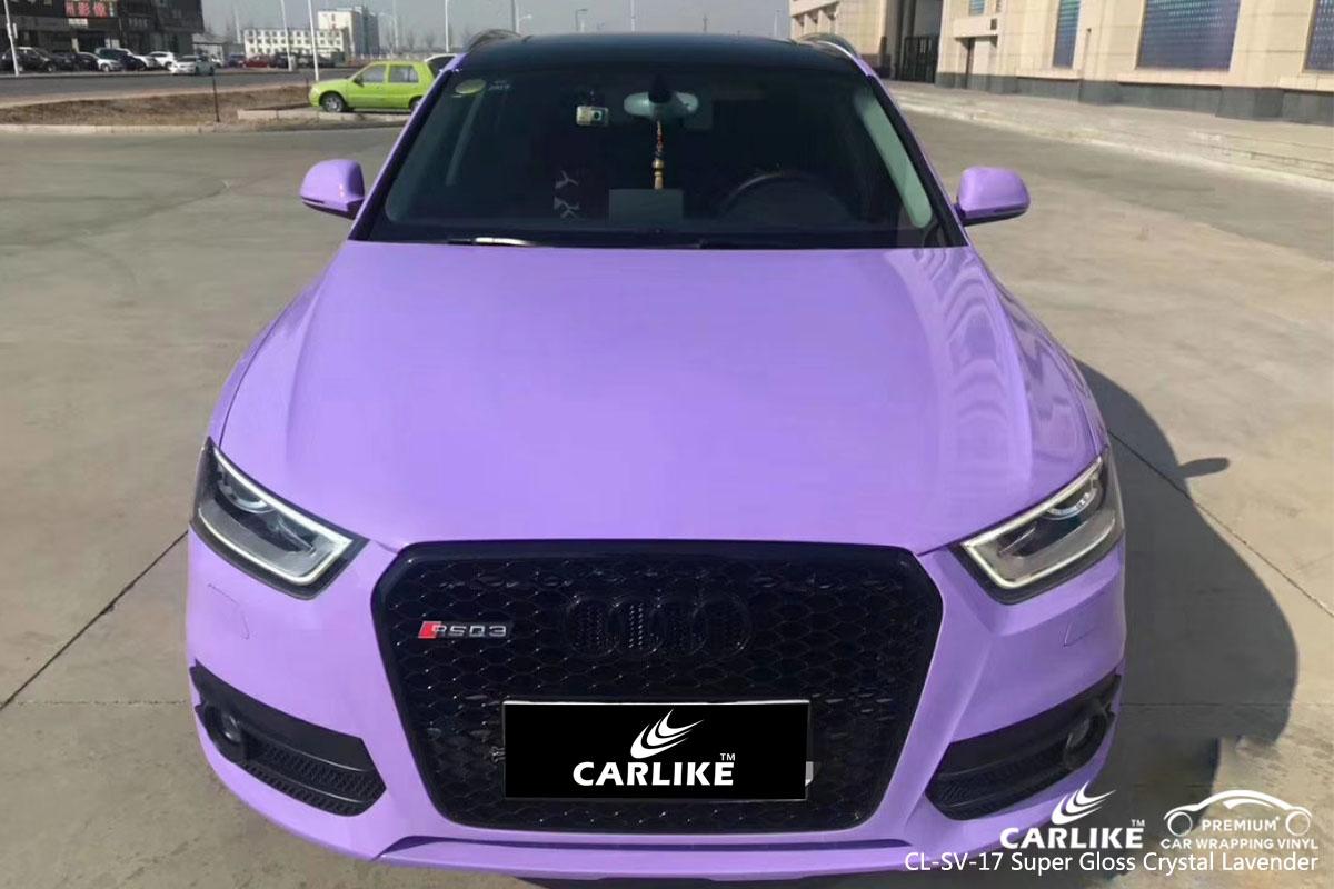 CARLIKE CL-SV-17 super gloss crystal lavender vinyl for audi