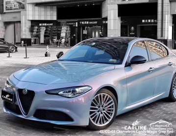 CARLIKE factory price chameleon candy magic grey red custom car wrap vinyl on Alfa Romeo, car wrap Canada