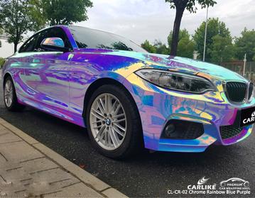 CARLIKE Vinilo auto azul cromado del arco iris púrpura en BMW, vinilo de auto Mexico