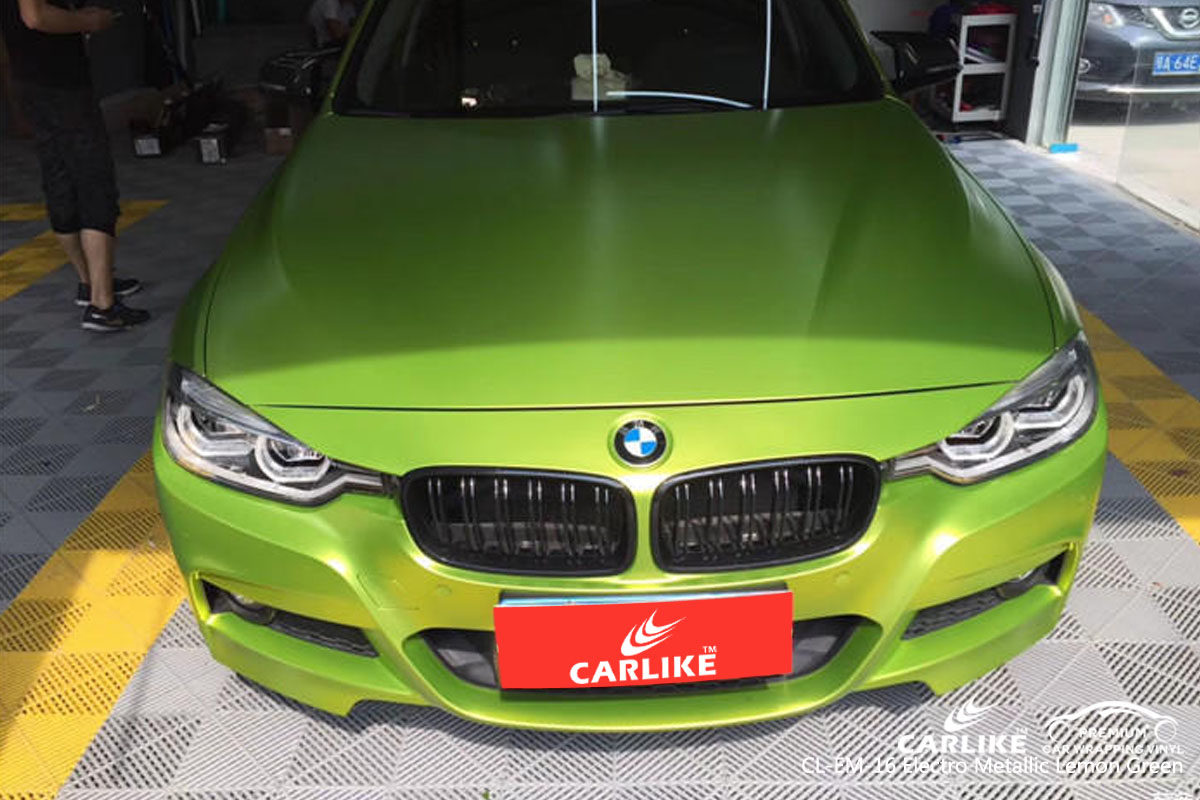 CARLIKE CL-EM-16 ELECTRO METALLIC LEMON GREEN VINYL FOR BMW