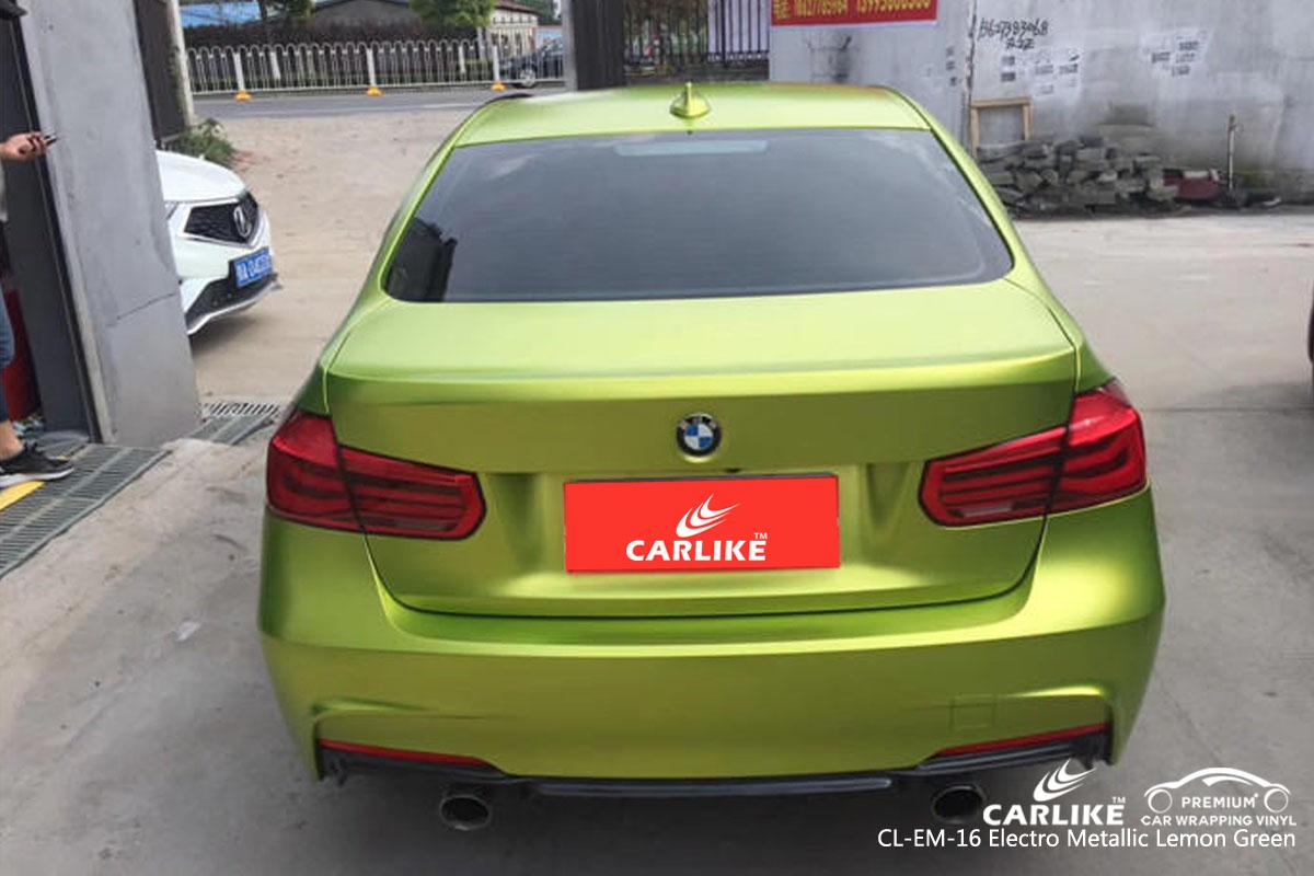 CARLIKE CL-EM-16 ELECTRO METALLIC LEMON GREEN VINYL FOR BMW