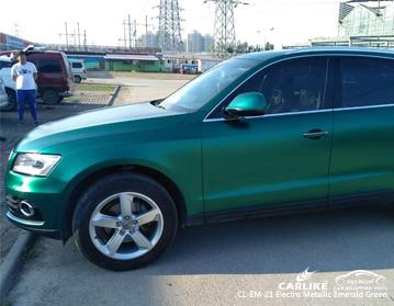 CARLIKE Vinilo auto verde metalizado esmeralda para coche, vehículo vinilo