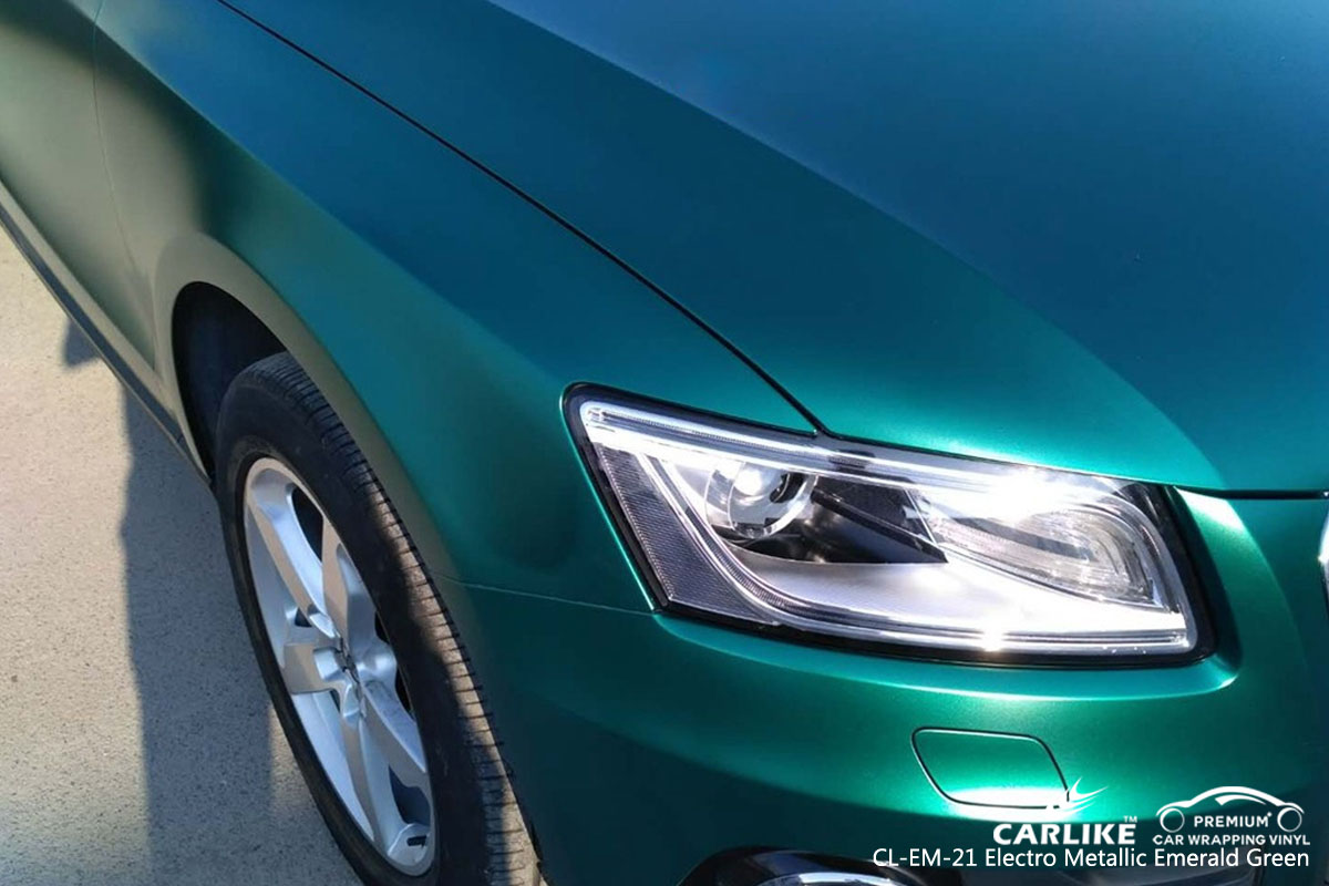 CARLIKE electro metallic emerald green car wrap vinyl, vehicle wrap