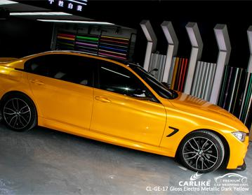 Vinilo envolvente súper brillante, electro metálico, amarillo oscuro en BMW, envoltura para automóvil, Colombia