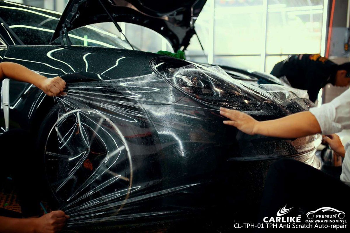 CARLIKE TPU PPF auto-repaired car paint protection film on Ferrari, car wrap America