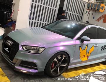 CARLIKE CL-CC-05 vinil roxo cinzento mágico do envoltório do carro dos doces do camaleão para Audi