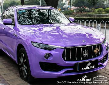 CARLIKE CL-CC-07 doces mágicos do camaleon vinil roxo do envoltório do carro da fantasia para Maserati