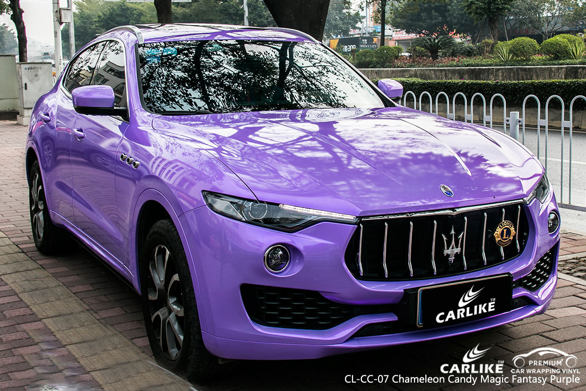 CARLIKE CL-CC-07 chameleon candy magic fantasy purple car wrap vinyl for Maserati