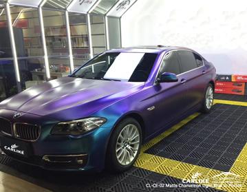 CARLIKE CL-CE-02 Caméléon mat, vinyle bleu clair à violet, pour voiture, pour BMW