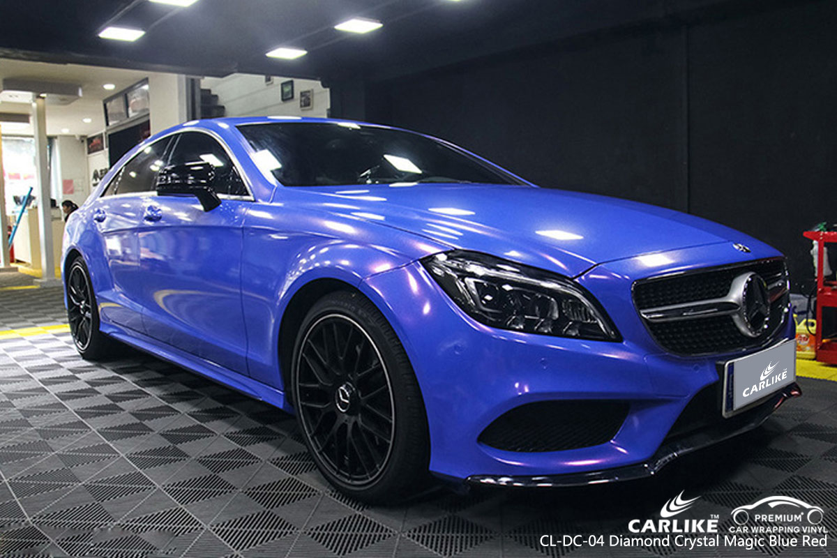 CARLIKE CL-DC-04 diamond crystal magic blue red car wrapping vinyl for Mercedes-Benz
