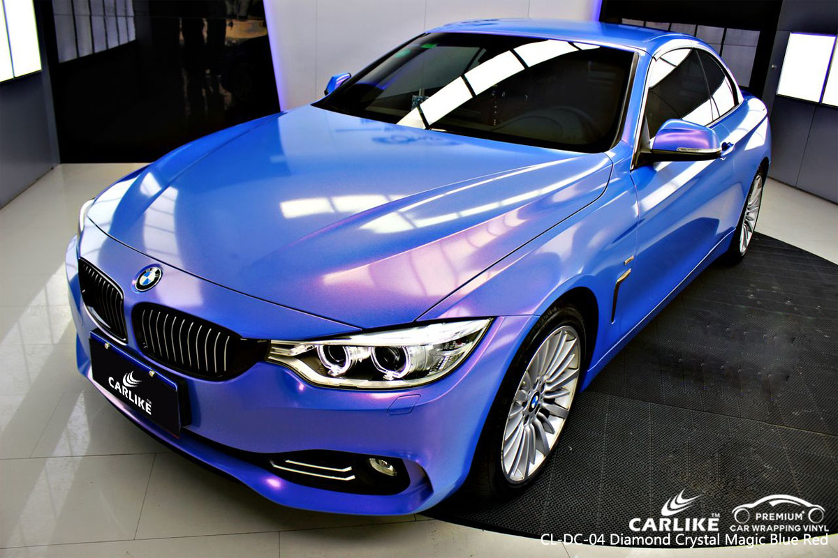 CARLIKE CL-DC-04 diamond crystal magic blue red car wrap vinyl for BMW