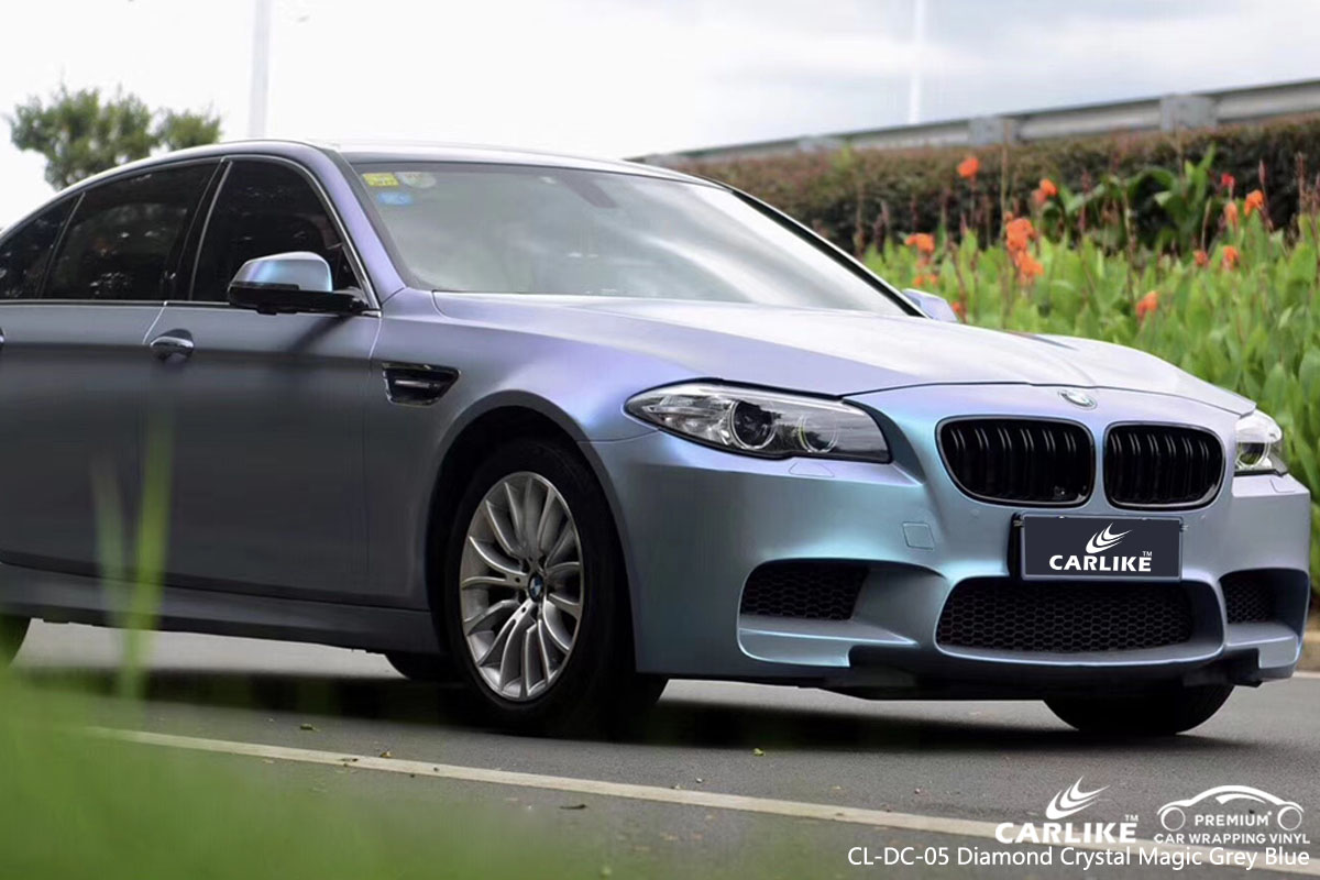 CARLIKE CL-DC-05 diamond crystal magic grey blue car wrap vinyl for BMW
