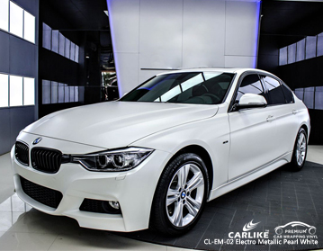 CARLIKE CL-EM-02 Vinilo auto enrollado electro metalizado blanco perla para BMW