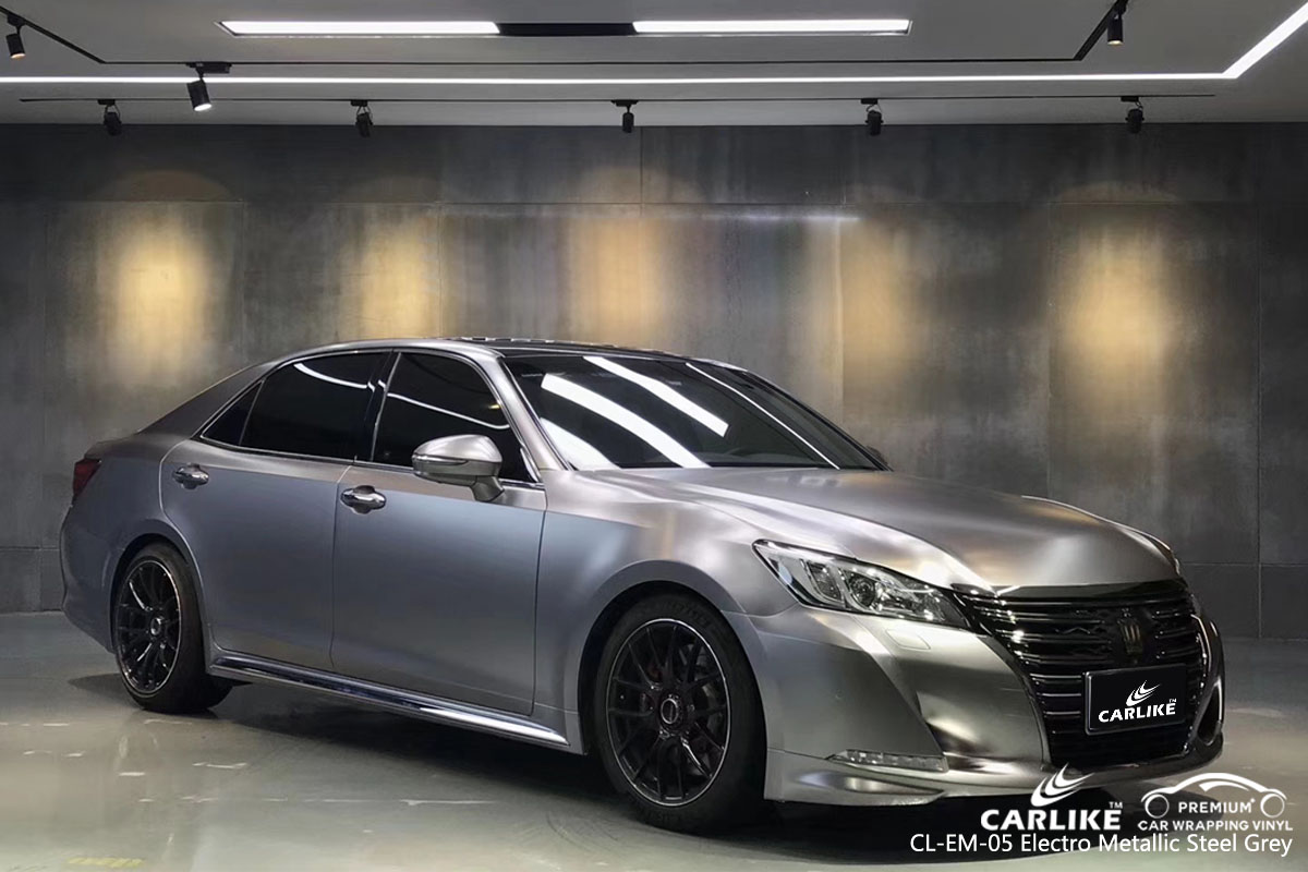 CARLIKE CL-EM-05 electro metallic steel grey car wrap vinyl for Toyota