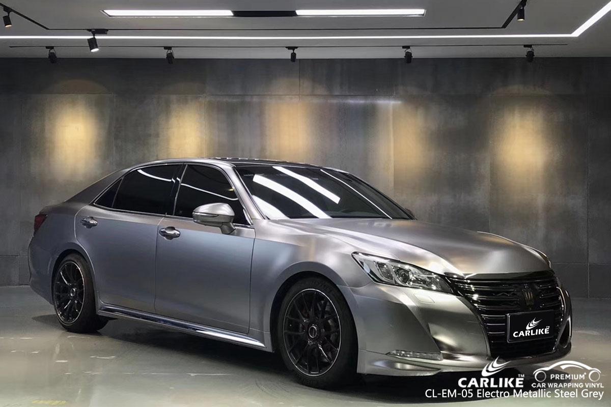 CARLIKE CL-EM-05 electro metallic steel grey car wrap vinyl for Toyota