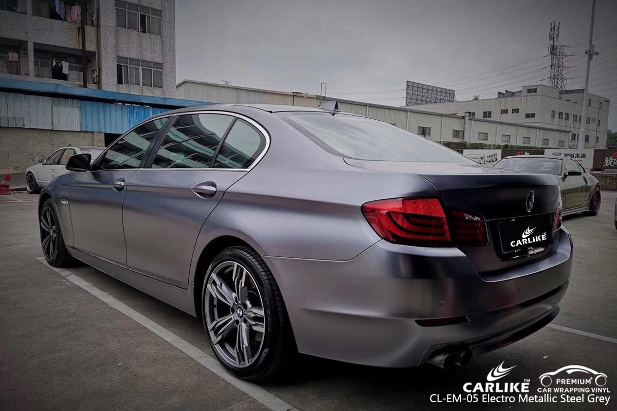 CARLIKE CL-EM-05 electro metallic steel grey car wrap vinyl for BMW