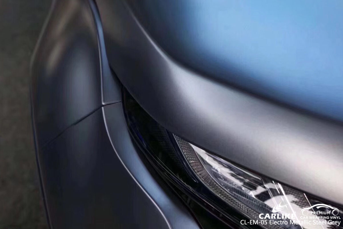 CARLIKE CL-EM-05 electro metallic steel grey car wrap vinyl for Land Rover
