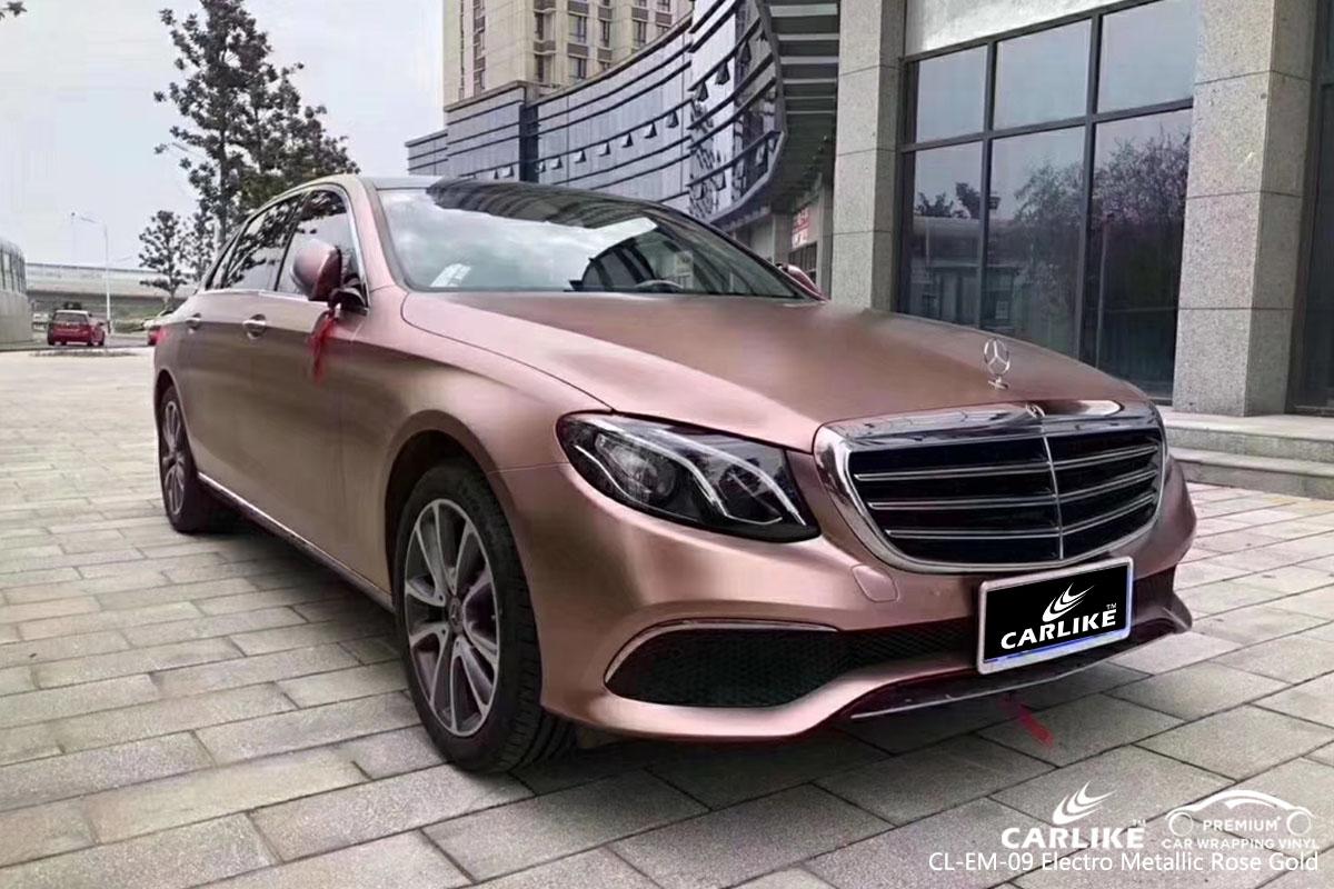 CARLIKE CL-EM-09 electro metallic rose gold car wrap vinyl for Mercedes-Benz