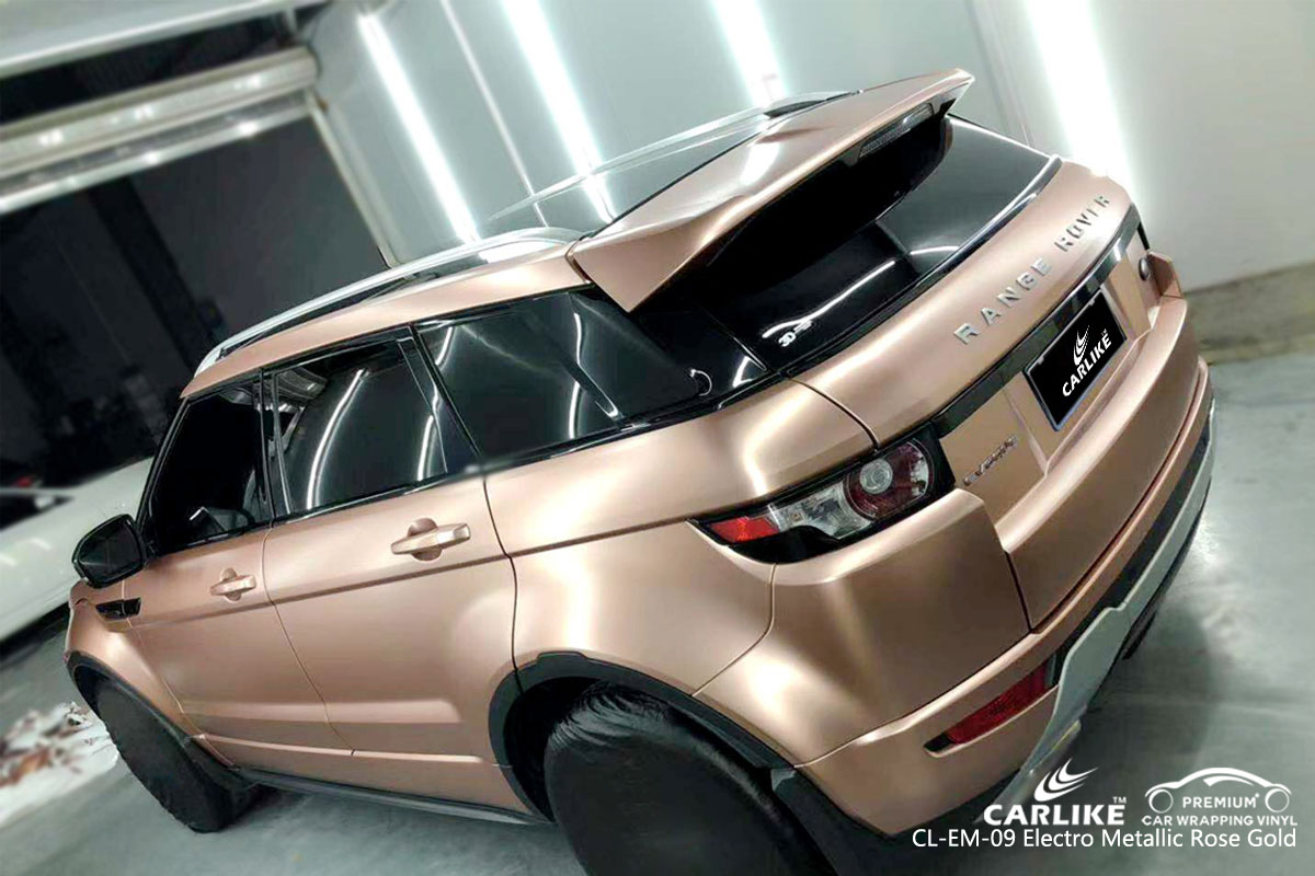 CARLIKE CL-EM-09 electro metallic rose gold car wrap vinyl for Land Rover