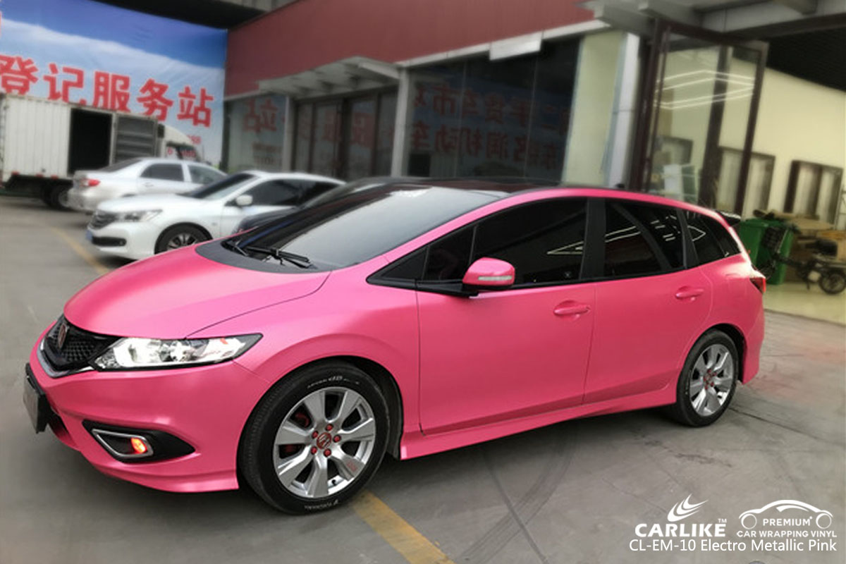 CARLIKE CL-EM-10 electro metallic pink car wrapping vinyl for Honda