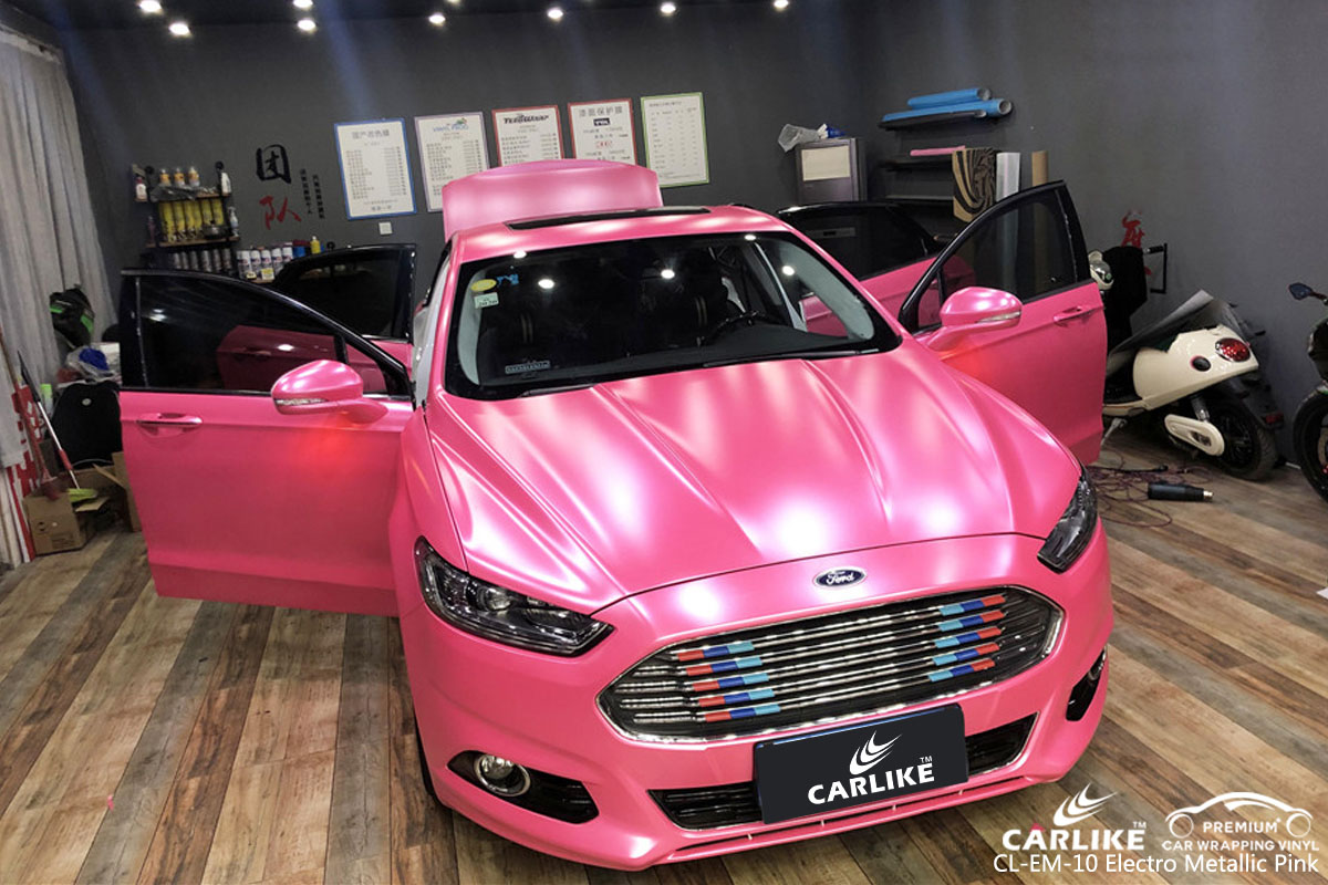 CARLIKE CL-EM-10 electro metallic pink car wrap vinyl for Ford