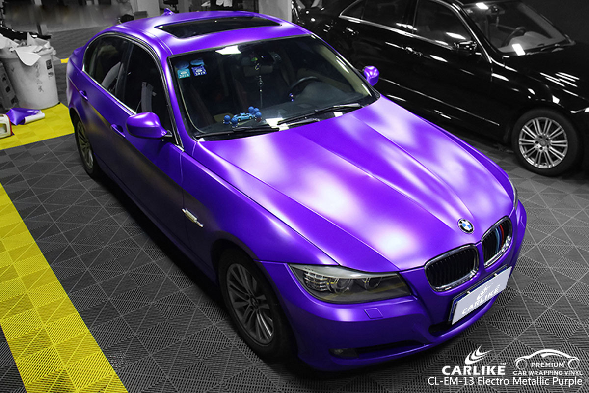 CARLIKE CL-EM-13 electro metallic purple car wrap vinyl for BMW