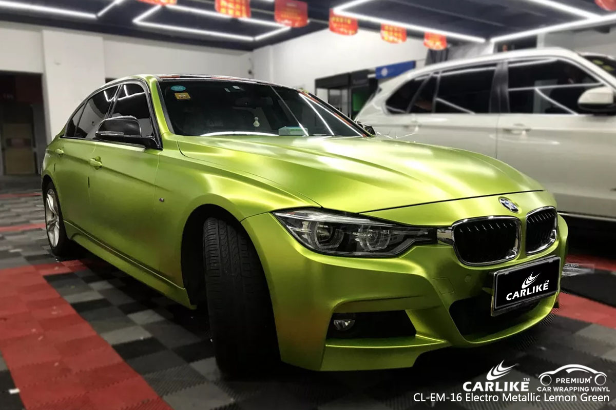 CARLIKE CL-EM-16 electro metallic lemon green car wrap vinyl for BMW