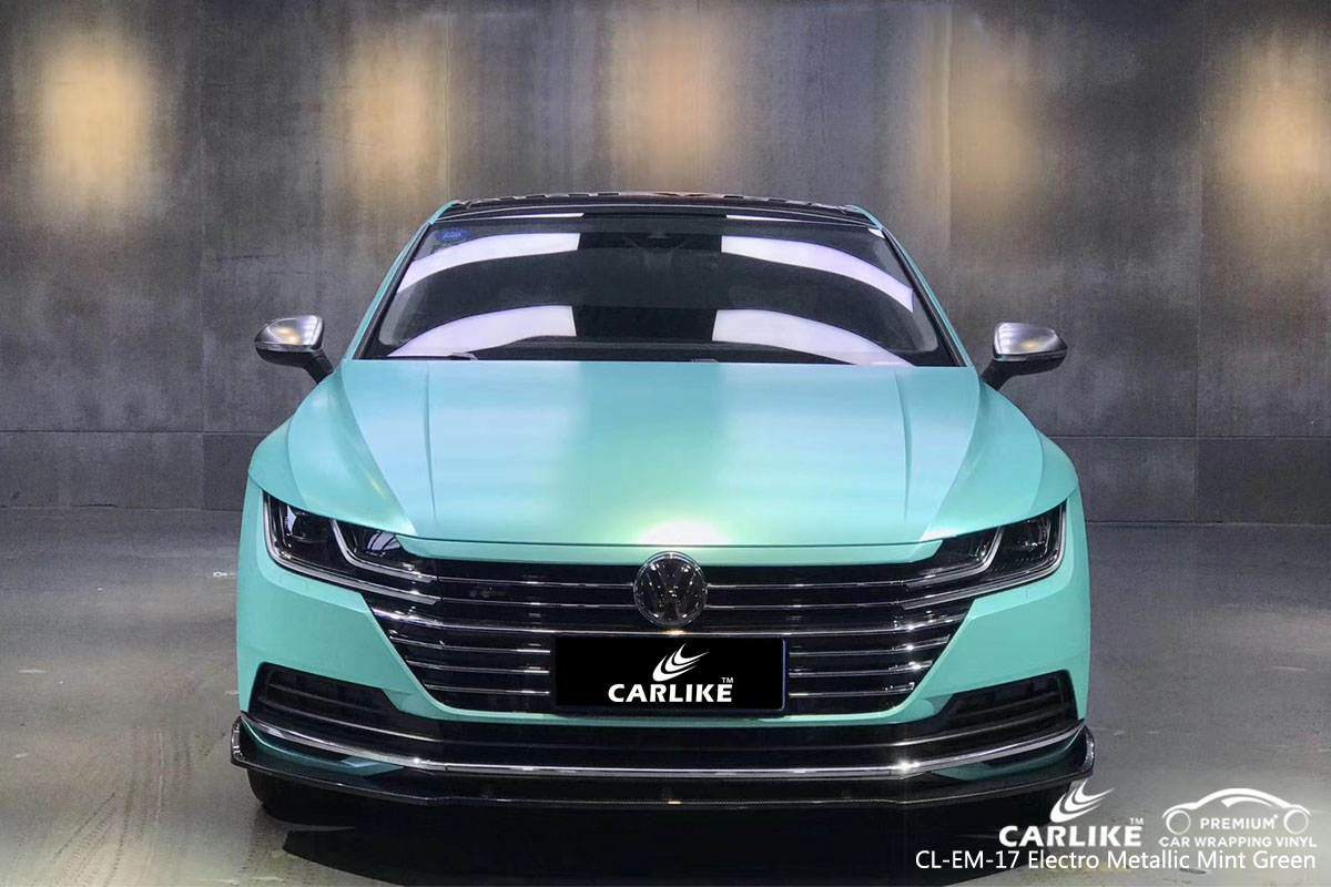 CARLIKE CL-EM-17 electro metallic mint green car wrap vinyl for Volkswagen