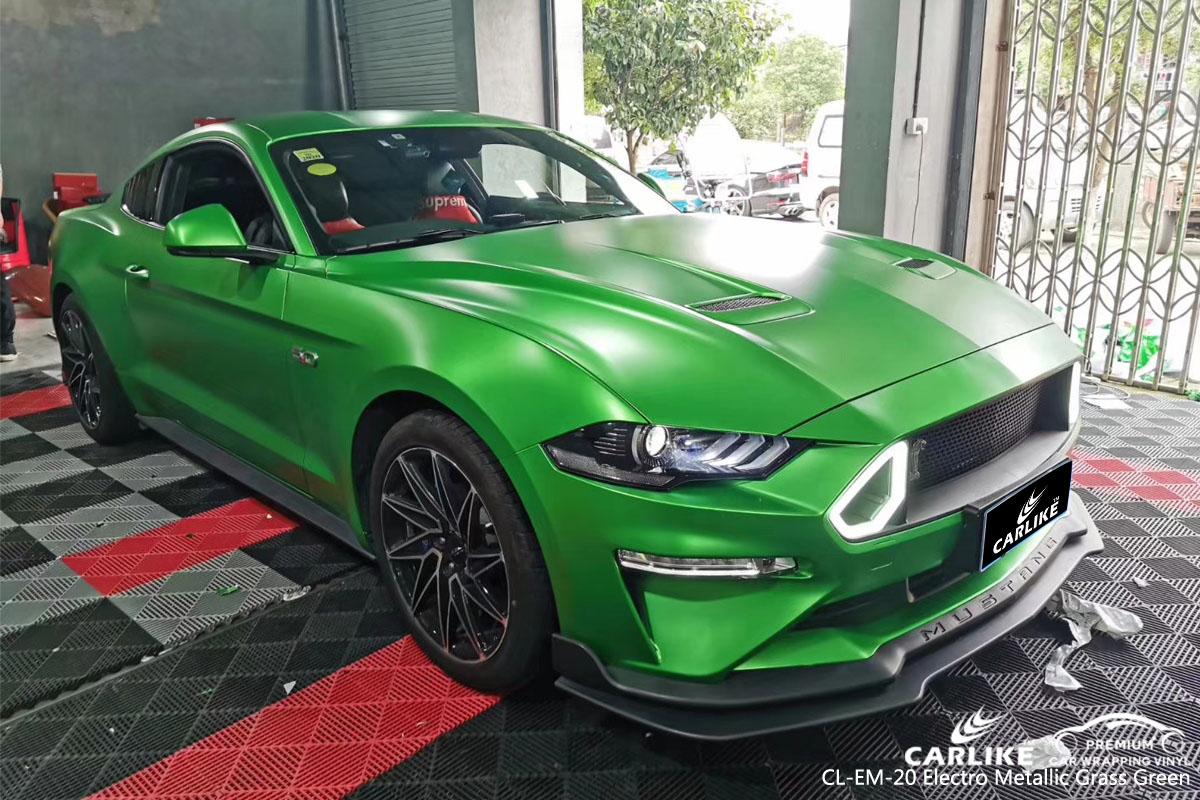 CARLIKE CL-EM-20 electro metallic grass green car wrapping vinyl
