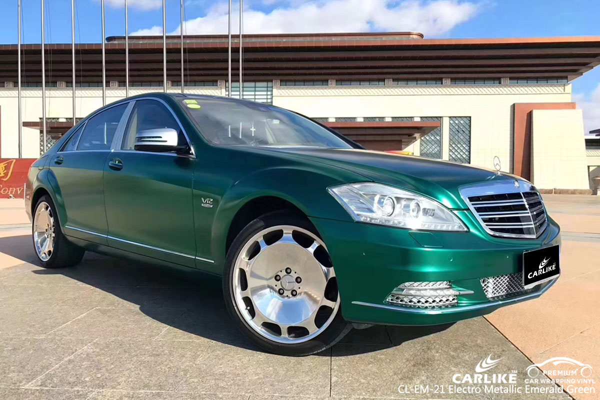 CARLIKE CL-EM-21 electro metallic emerald green car wrap vinyl for Mercedes-Benz
