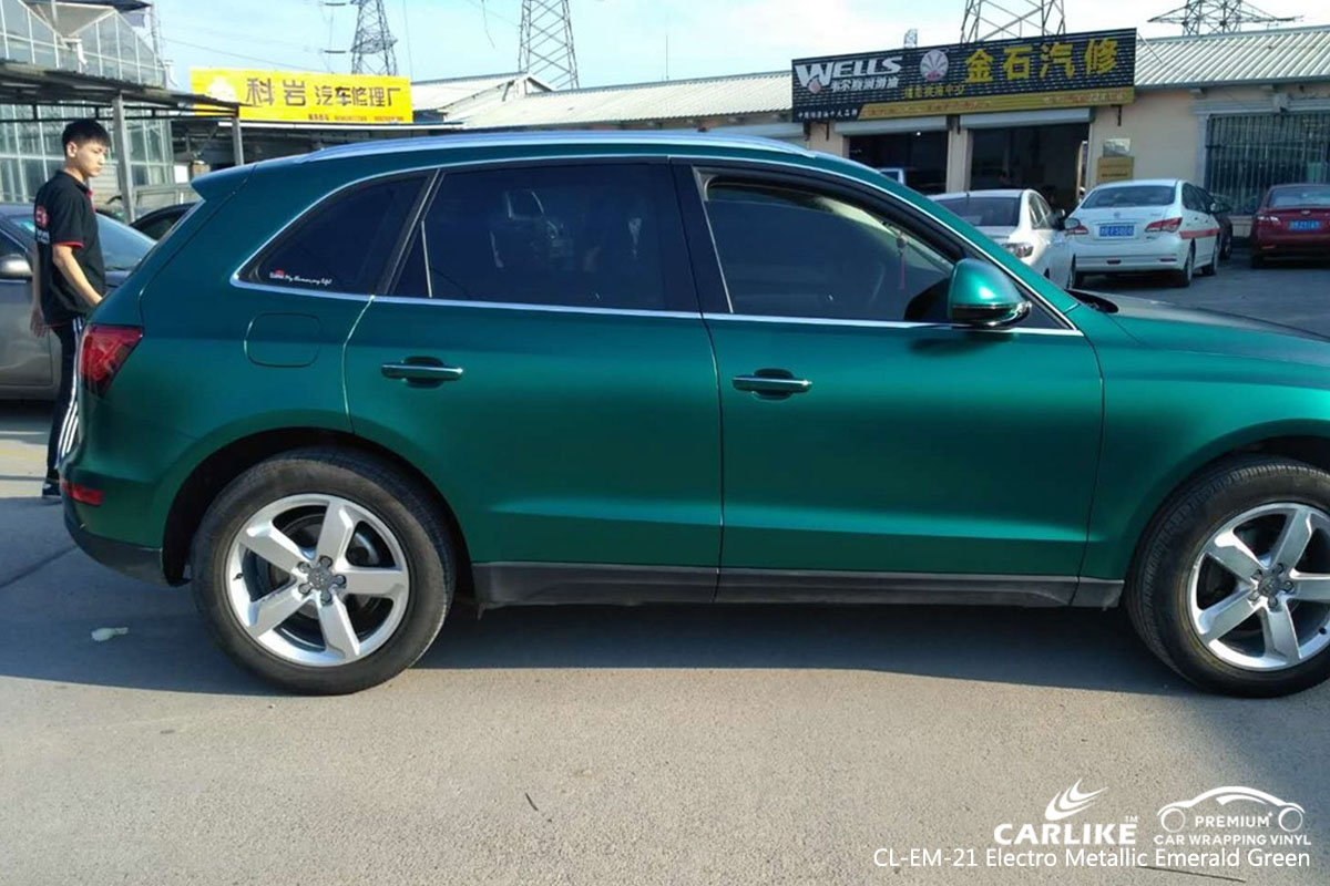 CARLIKE CL-EM-21 electro metallic emerald green car wrapping vinyl
