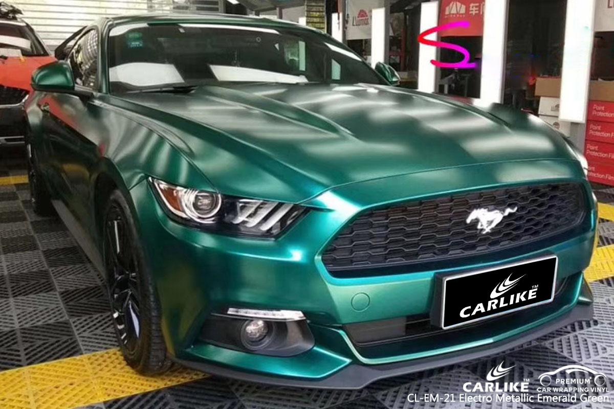 CARLIKE CL-EM-21 electro metallic emerald green car wrap vinyl for Mercedes-Benz