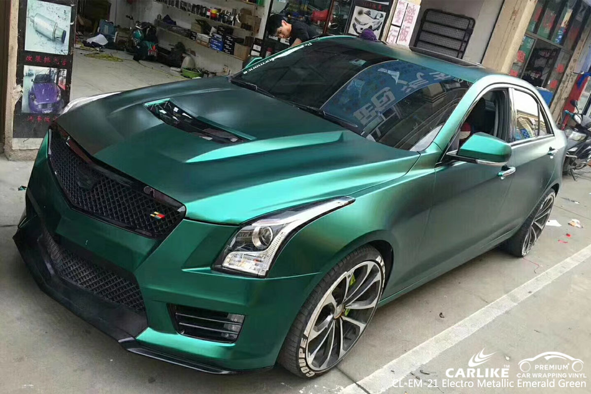 Cl Em 21 Electro Metallic Emerald Green Car Wrap Vinyl For