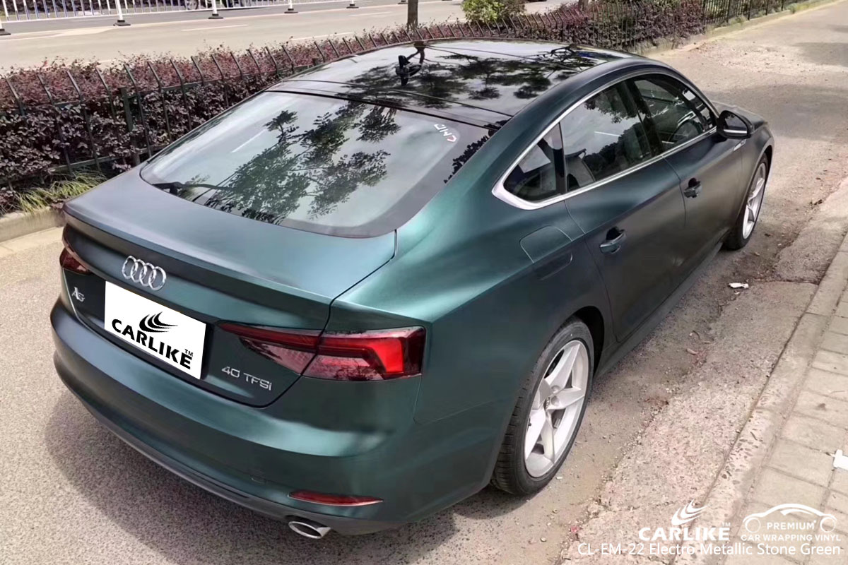 CARLIKE CL-EM-22 electro metallic stone green car wrap vinyl for Audi