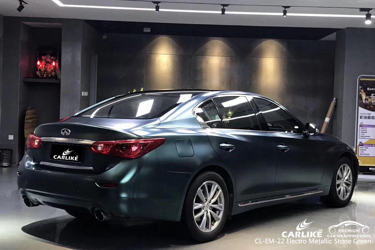 CARLIKE CL-EM-22 electro metallic stone green car wrap vinyl for Infiniti