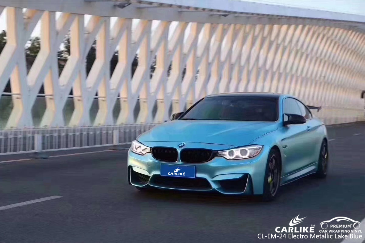 CARLIKE CL-EM-24 electro metallic lake blue car wrap vinyl for BMW