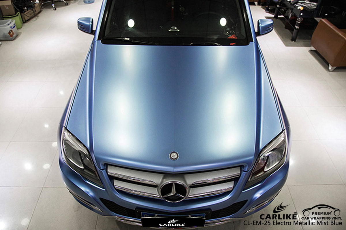CARLIKE CL-EM-25 electro metallic mist blue car wrap vinyl for Audi