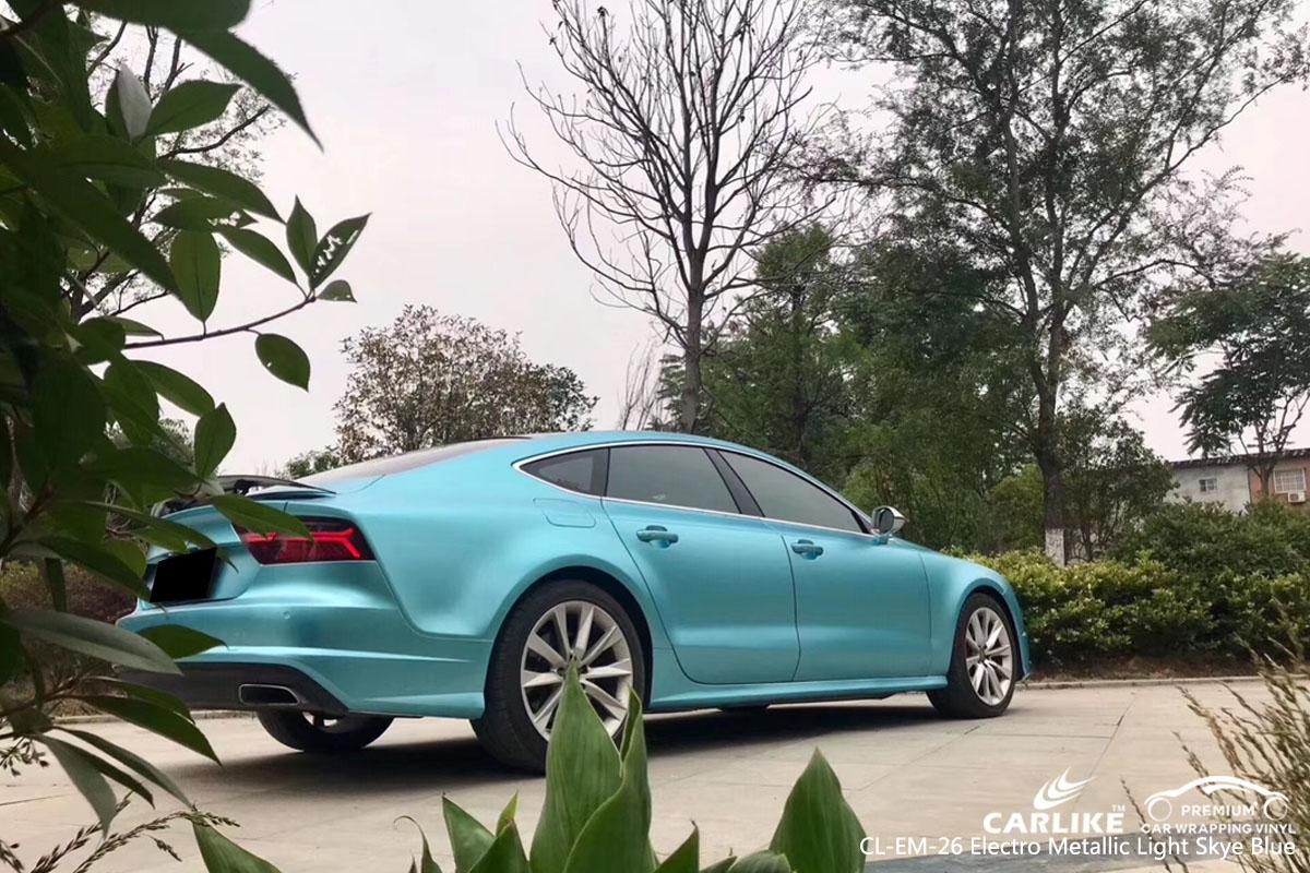 CARLIKE CL-EM-26 electro metallic light sky blue car wrap vinyl for Audi