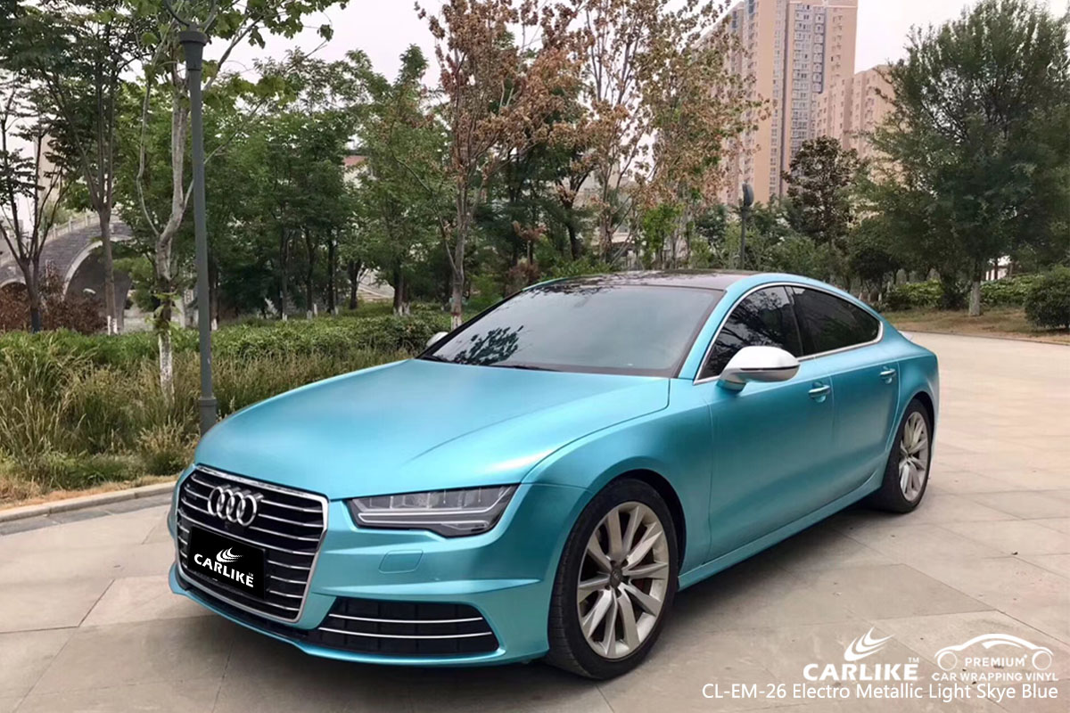Cl Em 26 Electro Metallic Light Sky Blue Car Wrap Vinyl For Audi Sino Vinyl
