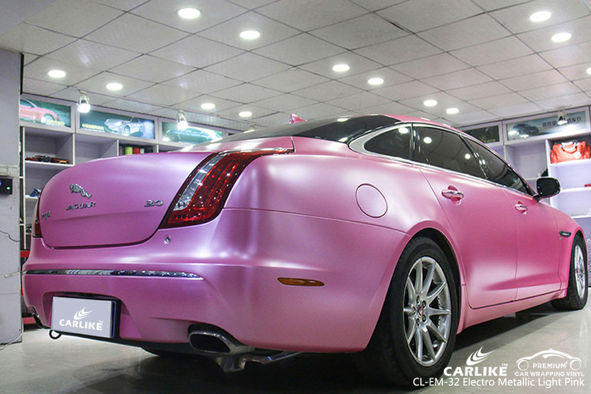 CARLIKE CL-EM-32 electro metallic light pink car wrap vinyl for Jaguar